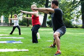 Outdoor Fitness Gruppe